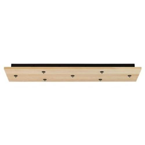 Rectangle Wood Multi-Light Canopy [Light Option : Halogen; ||color : Maple; Finish : Satin Nickel]