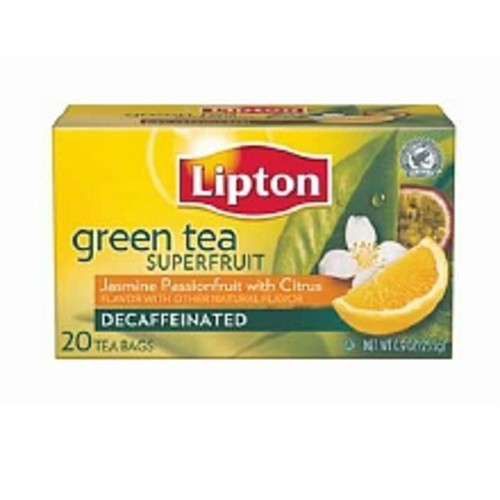 Lipton Green Tea Bags Decaf Jasmine Passionfruit with Citrus