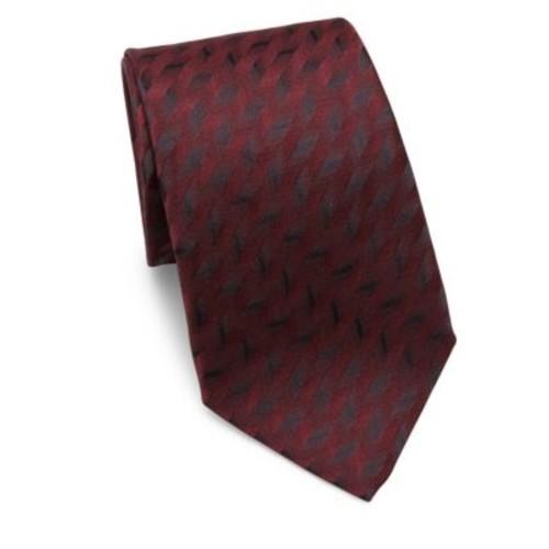 ARMANI COLLEZIONI Metallic-Print Silk Tie