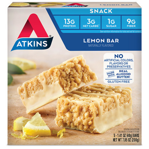 Atkins Snack Bars Lemon