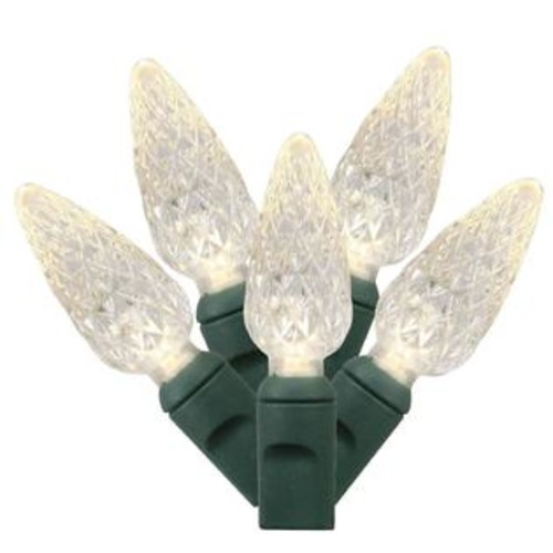 Vickerman Set of 50 Warm White Commercial Grade LED C6 Christmas Lights - Green Wire