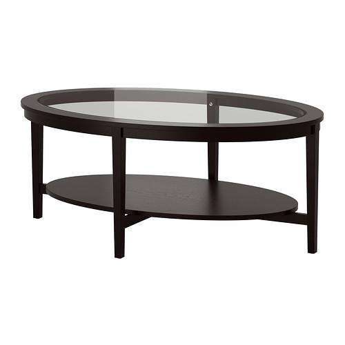 MALMSTA Coffee table, black-brown