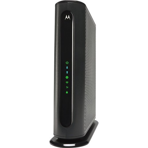 Motorola - Dual-Band AC1900 Router with DOCSIS 3.0 Cable Modem - Black