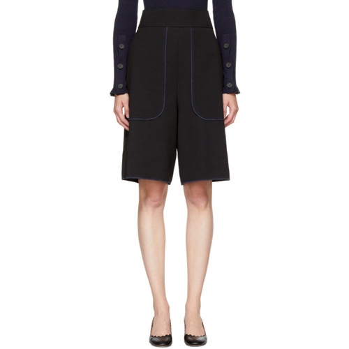 SEE BY CHLOÉ Black Crepe Shorts
