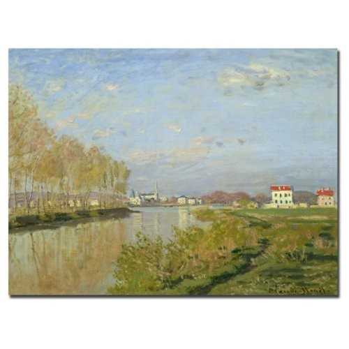 Trademark Fine Art The Seine at Argenteuil 1873 by Claude Monet Canvas Wall Art, 18 by 24-Inch [18 by 24-Inch]