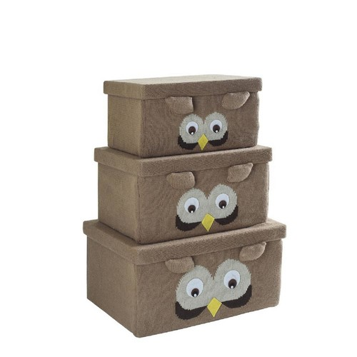 Fabric Bin Set- Owl