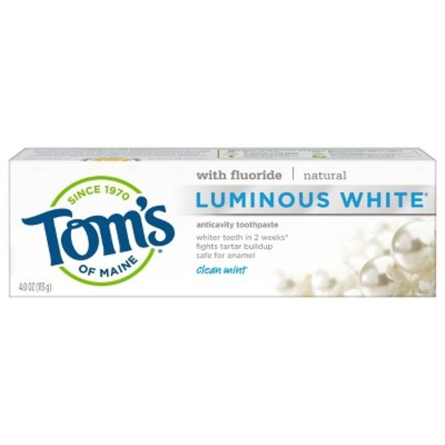 Tom's of Maine Luminous White Toothpaste - 4.7 oz