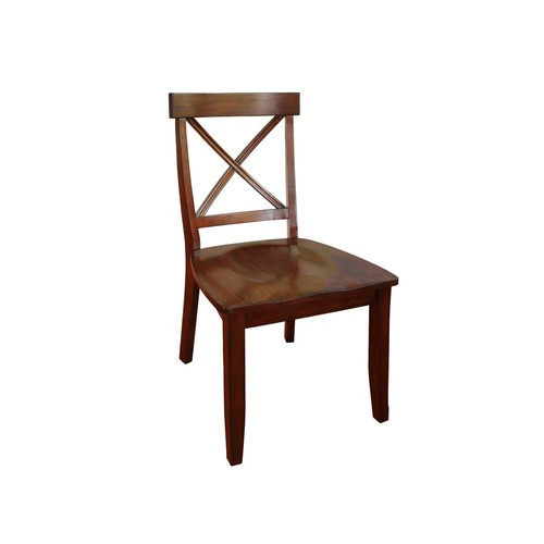 Home Styles Cherry Wood X Back Dining Chair (Set of 2)