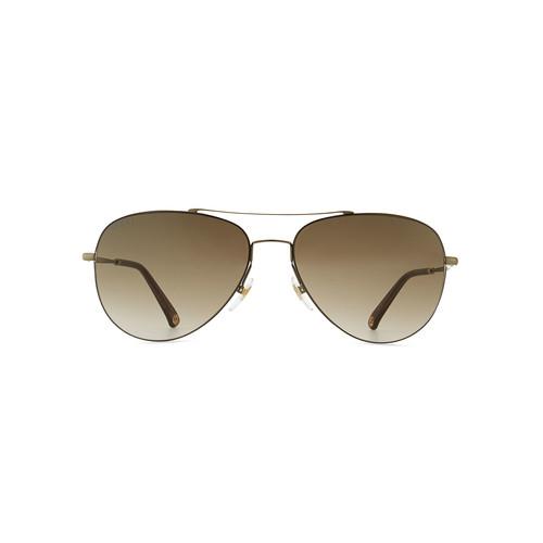 GUCCI Metal Aviator Sunglasses, Olive