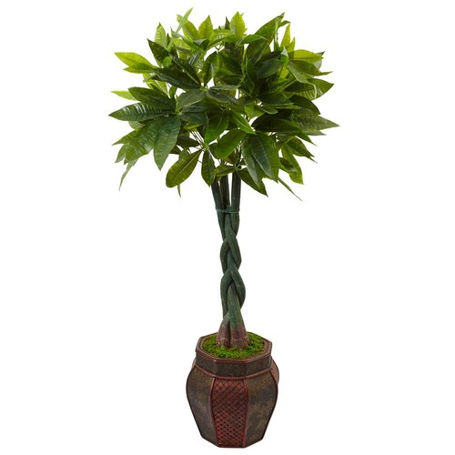 Nearly Natural Indoor Money Artificial Tree in Planter