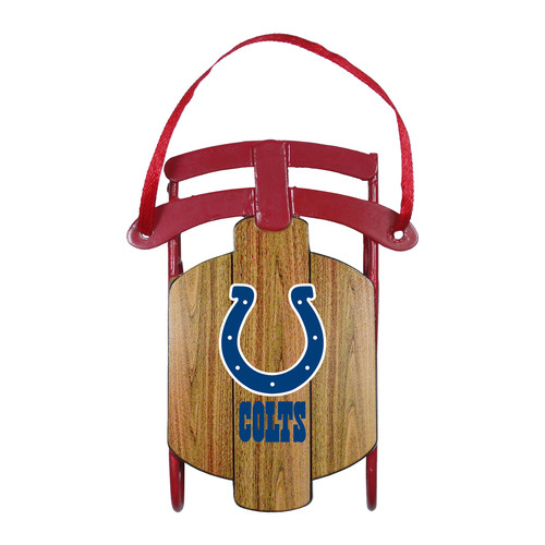 NFL Metal Sled Ornament - Indianapolis Colts