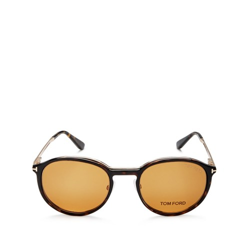 TOM FORD Optical Magnetic Clip-On Lens Round Sunglasses, 50Mm