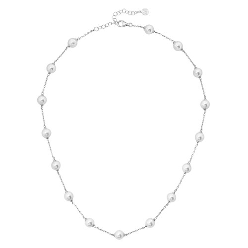 Simulated Pearl Illusion Necklace, 18