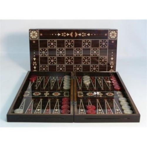 Worldwise Imports Floral Decoupage Backgammon - Decoupage Wood Backgammon (WWI1888)