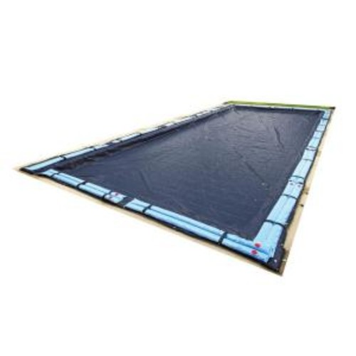 Blue Wave 8-Year 14 ft. x 28 ft. Rectangular Navy Blue In Ground Winter Pool Cover