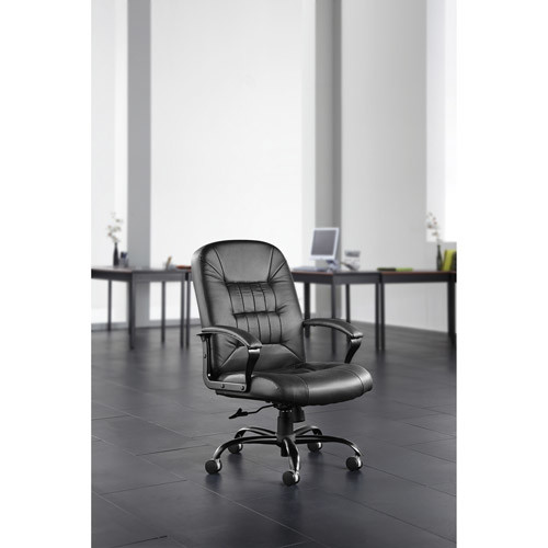 OFM Model 800-L Leather Big and Tall Executive Office Chair, Black