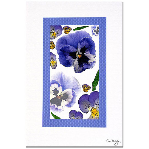 Kathie McCurdy 'Pansy Window' Gallery-wrapped Canvas