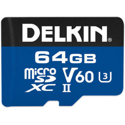 64GB 1900x microSDXC UHS-II Memory Card (V60)
