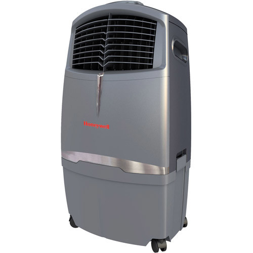 Honeywell CL30XC 525 CFM Indoor Evaporative Air Cooler (Swamp Cooler) with Remote Control in Gray