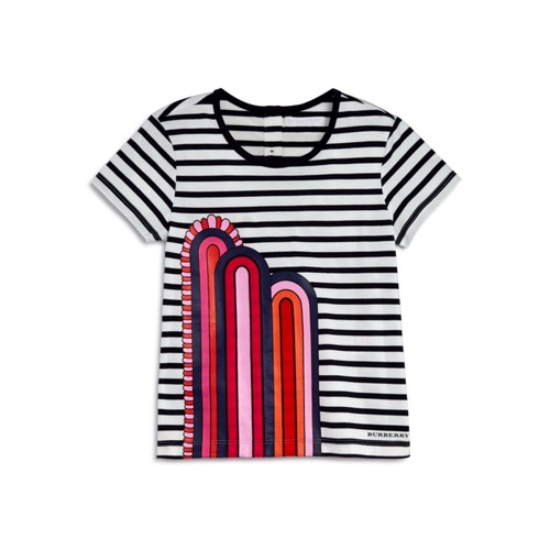 BURBERRY Girls' Striped Rainbow Tee - Sizes 4-14