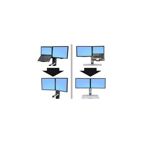 Ergotron 97-616 Workfit Convert-to-dual Kit Stnd From Lcd & Laptop