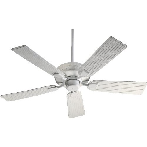 Quorum International 139525-8 Marsden Energy Star Patio Ceiling Fan with Studio White ABS Blades, 52-Inch, Studio White Finish
