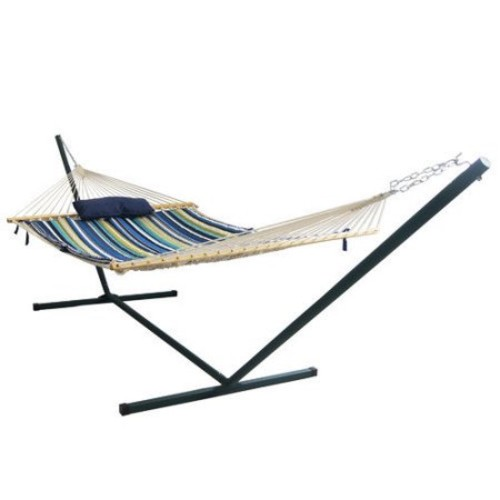 Blue Wave Products Island Retreat 4 Piece Polyester Hammock with Stand Set