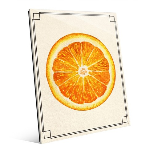 Orange Slice Wall Art Print on Acrylic