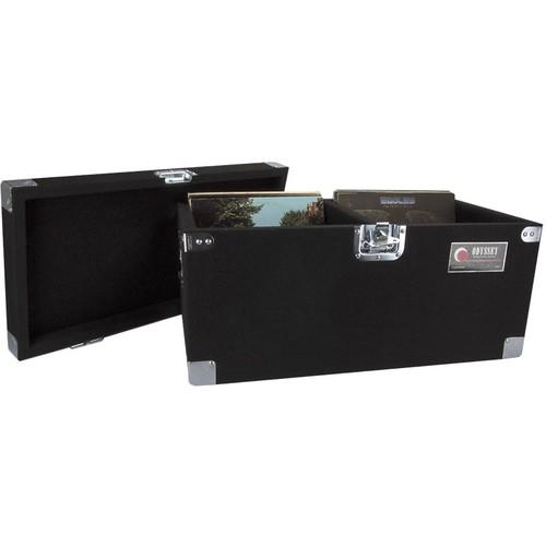 Odyssey KROM Transport Case for 70, 12 Inch Vinyl Records, Black (2 Pack)