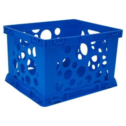Storex Mini Stackable Storage Crate 3ct - Blue