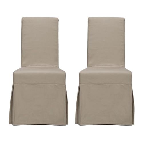 Safavieh Set of 2 Mercer Ecru Accent Chairs MCR4521A-SET2