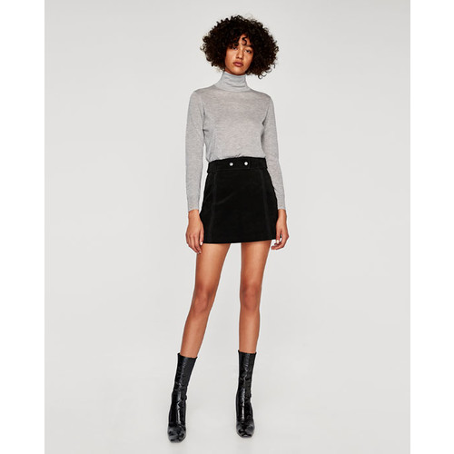 SUEDE MINI SKIRT - NEW IN-WOMAN