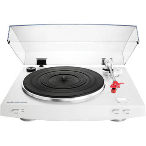 Audio Technica Fully Automatic Belt-Drive Stereo Turntable - White