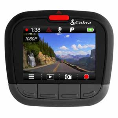 Cobra CDR Drive HD 1080P Full HD Dash Cam with Internal GPS and Bluetooth Smart enabled iRadar Alerts