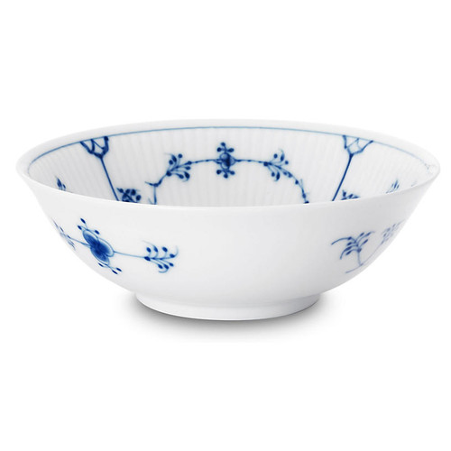 Blue Plain Cereal Bowl