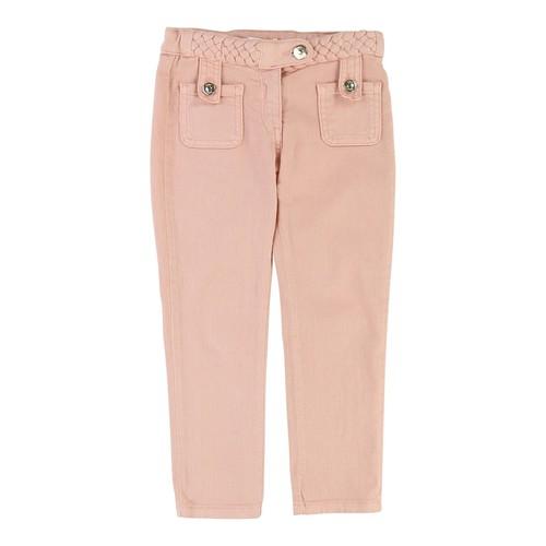 CHLOE Denim Braided Trousers, Size 4-5