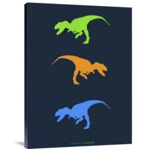Naxart 'Dinosaur Family 14' Graphic Art Print on Canvas; 32'' H x 24'' W x 1.5'' D