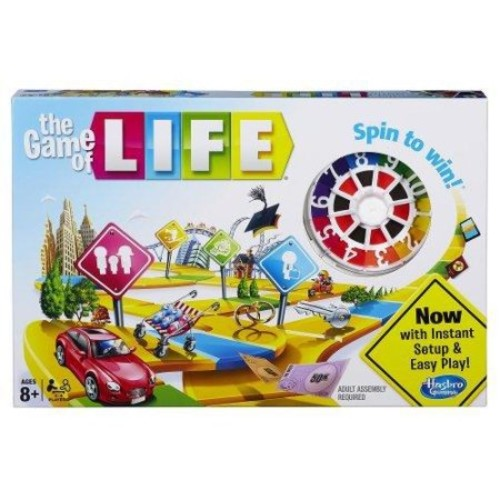 Hasbro - The Game of Life, Board Game. Family and Friends Classic Game - 4000 - Board Games