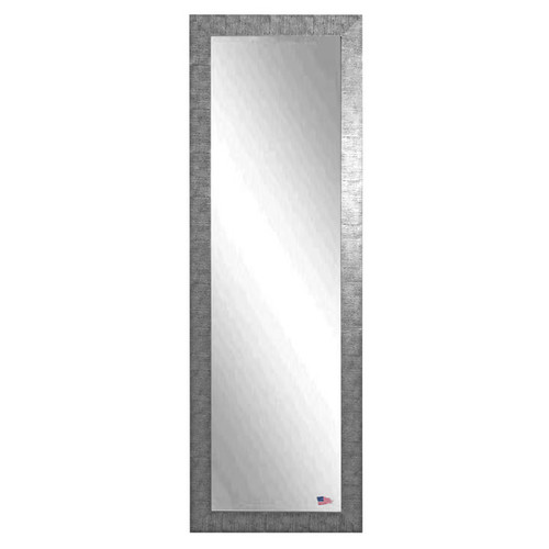 American Made Rayne Silver Grain 24 x 62-inch Full Body Mirror - silver/black [option : Eco-Friendly/Includes Hardware/Handmade]