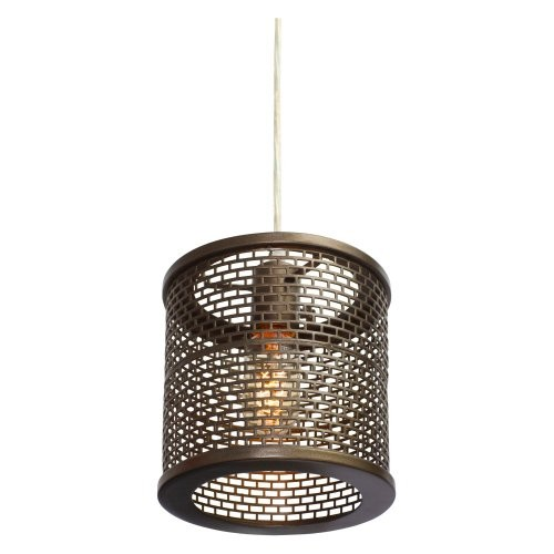 Varaluz Lighting 231M01NB Lit-Mesh Test - One Light - Mini Pendant, New Bronze Finish