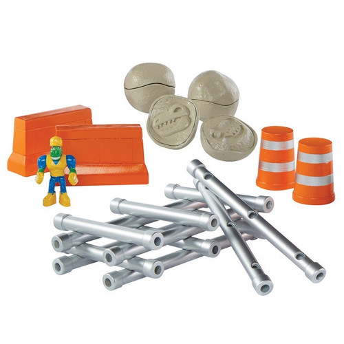 Educational Insights Dino Construction Company Build and Smash Kit, Set of 20