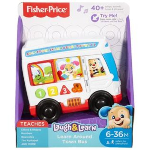 Fisher -Price Laugh & Learn Learn Around Town Bus Toy