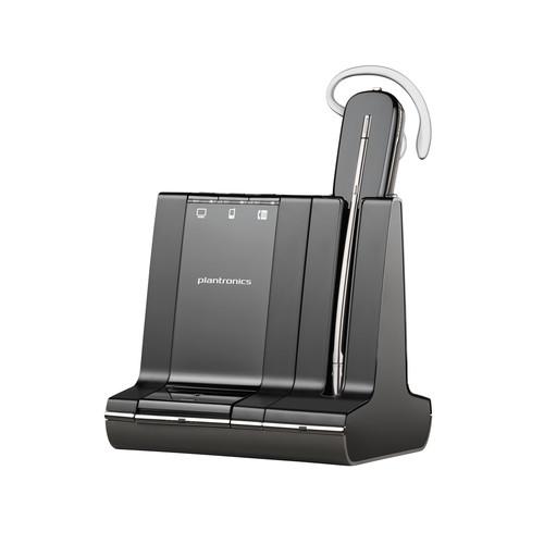 Plantronics - Savi 700 Wireless Headset System - Black