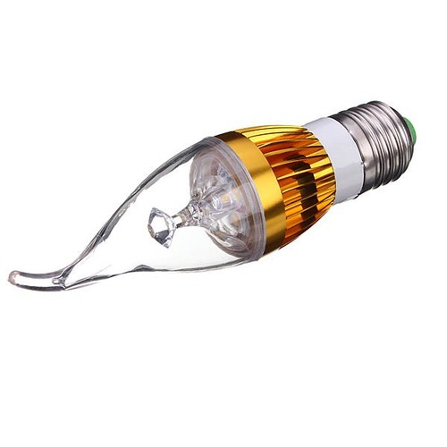 3 LEDs E27 4.5W Warm White LED Chandelier Candle Light Bulb 300-330LM AC 85-265V