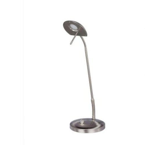 Fangio Lighting 22 in. Satin Chrome LED Metal Table Lamp