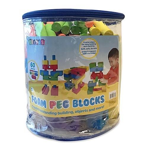 Verdes 60-Piece Foam Peg Building Block Set