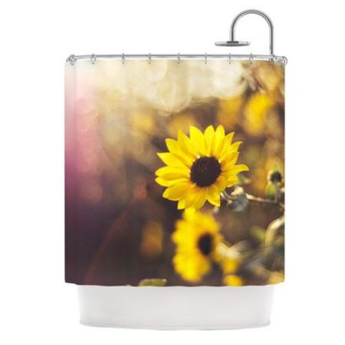 KESS InHouse Magic Light Polyester Shower Curtain