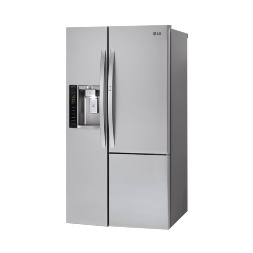 LG - 21.7 Cu. Ft. Side-by-Side Counter-Depth Refrigerator - Stainless steel