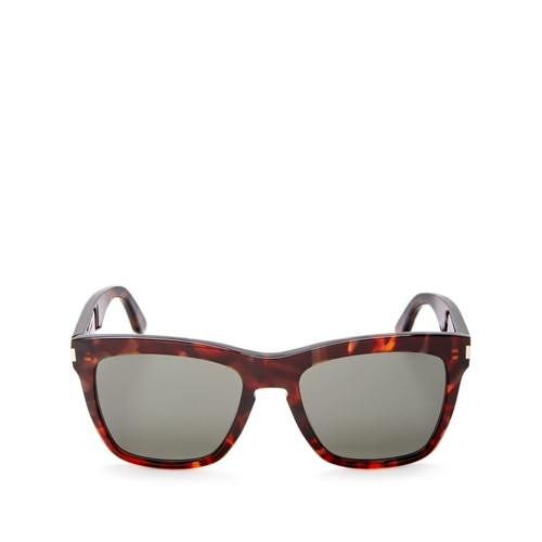 SAINT LAURENT Havana Devon Square Sunglasses, 58Mm
