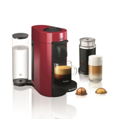 Nespresso by De'longhi VertuoPlus Coffee and Espresso Maker Bundle and Aeroccino Frother